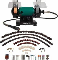 VONROC Tafelslijpmachine / Multitool – 150W – 75MM – met flexibele as – Incl. 192 accessoires