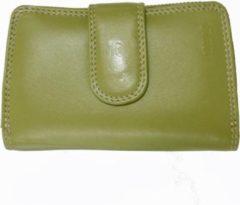 Juscha JU-80022505 Portemonnee Dames Mika Leer Met Verschillende Compartimenten, Kleur Groen