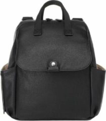 Zwarte Babymel Robyn Convertible Backpack faux leather black Luiertas