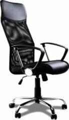 Merkloos / Sans marque Deuba Bureaustoel met mesh zwart