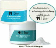 Witte Dr Van der Hoog Dr. Van der Hoog Poedermaskers: 1x schuim reiniger 70g en 1x zachte scrub 70g