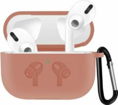 Case Cover Voor Apple Airpods Pro- Siliconen Diverse Kleuren | Lichtroze | Watchbands-shop.nl