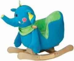 Blauwe Knorrtoys Schommeldier Olifant