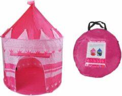 Roze Merkloos / Sans marque XL Kasteel Kinder Speeltent - Jongens & Meisjes - Speelgoed Ridder / Prinses Tent Speelkasteel - Kasteeltent Binnen/Buiten