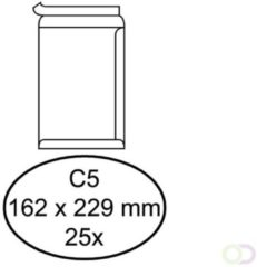 Quantore Bankenvelop C5 Zelfklevend Wit 158153 Pak à 25 Stuks.