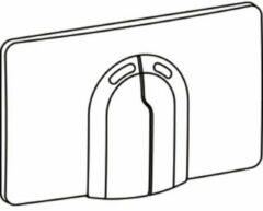 Wisa Dual Flux Bedieningspaneel closet/urinoir H1.8xB32.6xL19.8cm waterbesparend Kunststof Chroom glans 8050420751