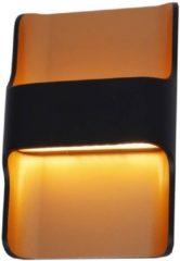Merkloos / Sans marque Artdelight - Wandlamp Dallas - Zwart / Goud - 2x LED 8W 2700K - IP54 - Dimbaar > wandlamp binnen | wandlamp buiten | wandlamp zwart goud | muurlamp | led lamp