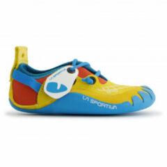Blauwe La Sportiva - Kid´s Gripit - Klimschoenen maat 27-28 blauw/turkoois/oranje