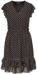 SIENNA Kleid, leicht transparent, gepunktet, Volants, leicht tailliert