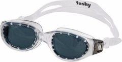 Fashy Zwembril met zwarte gebogen lenzen voor volwassenen