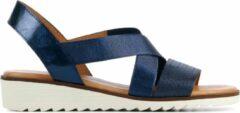 Blauwe Capobella Vrouwen Leren Sandalen - C1005 - 35