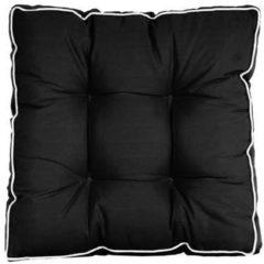 Zwarte Hartman Casual Black Loungekussen 60 x 60 cm