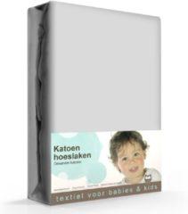 Briljant Hoeslaken Grijs 70x150cm (katoen)