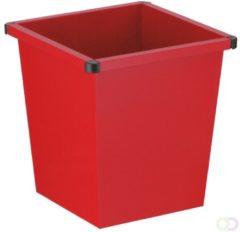 Rode Vepabins Vierkant tapse papierbak