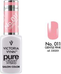 Roze Gellak Victoria Vynn™ Gel Nagellak - Gel Polish - Pure Creamy Hybrid - 8 ml - Gentle Pink - 011 - Rose