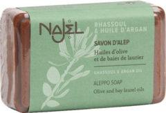 Zwarte Najel Aleppo zeep blok Rhassoul en Argan olie 100 gram