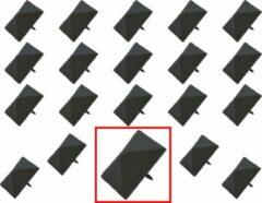 AMIG – Stalen Stoffeernagels Siernagels Meubelnagels Sierspijkers – 40 x 40 x 33mm - Pyramidevorm – Zwart – Rustiek Ornament - 20 stuks