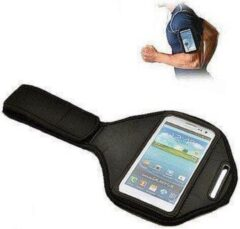 Zwarte Galaxy Note 2 Sportarmband loopband sport armband tbv Samsung