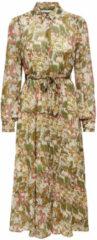 Zandkleurige ONLY ONLY Jurk OnlDaisy L/S Midi Dress WVN 15225789