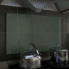 VidaXL Spatscherm keuken 80x50 cm gehard glas wit