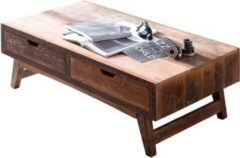 Möbel Ideal Couchtisch Malm aus recyceltem Massivholz 70 x 135 cm Bunt