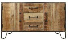 HSM Collection Sideboard Hayward - 150x45x85- naturel/donkergrijs - mangohout/ijzer