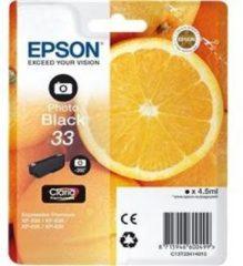 Zwarte Epson 33 PHBK 4.5ml 200pagina's Foto zwart inktcartridge