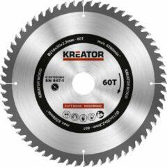 Kreator KRT020424 Zaagblad hout 216 mm - 60T