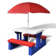Vidaxl picknicktafel kinderen met parasol