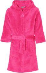 Playshoes - Fleece badjas met capuchon - Roze - maat 98-104cm