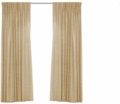 Larson - Luxe Hotel Serie Blackout Gordijn - Visgraat motief - Haken - Beige - 300 x 250 cm - Verduisterend & kant en klaar