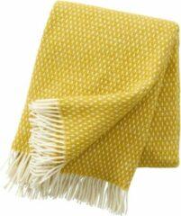 Klippan - Plaid - Deken - Knut - Saffron - Geel/wit - 100% lamswol - 130cm x 200 cm - wasbaar - duurzaam geproduceerd