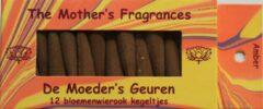Oranje De Moeder's Geuren Wierook Amber | 12 Bloemenwierook Kegeltjes