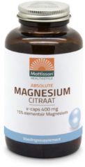 Mattisson Active Magnesium Citraat 400 Mg (180vc)