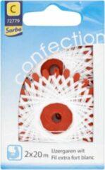 Sorbo Confection - IJzergaren Wit 2 x 20m - 72779 - extra sterk garen polyester