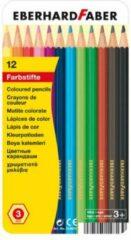 Kleurpotloden Eberhard Faber Classic metaaletui a 12 stuks EF-514813