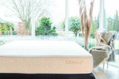 Beige Hibboux matras Nest 90x200 365 nachten proefslapen - unieke zandloper pocketveer systeem