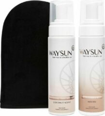 Waysun® - Natural Bronzer Mousse - Licht - Zelfbruiner - Zelfbruiners - Tanninghandschoen - Zelfbruiner handschoen - Tanning Mitt - Gradual Tan - Zelfbruiner mousse - Bondi Sands - Self Tan - Hydraterend - Huidverzorging