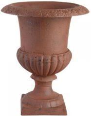 Merkloos / Sans marque Franse hoge vaas 22 cm Antiek roestbruin