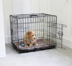 Adori Bench 2-Deurs Zwart - Hondenbench - 62x44x50 cm