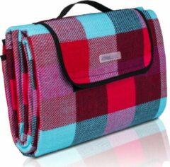 Lichtblauwe Sens Design Picknickkleed Waterdicht – Picknickdeken – Ruit – Rood