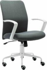 Milo Labels Milo Bureaustoel - Kantoorstoel Zonder Hoofdsteun - Directiestoel - Ergonomisch - Bureaustoelen voor volwassenen - Grijs