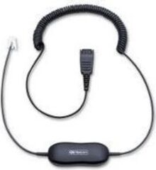 Jabra 88001-04 telefoonkabel 0,8 m Transparant, Zwart