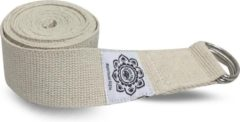 Greentree® Ivory Cotton Yoga 8 ft. strap with wrapped 1.5'' D-ring