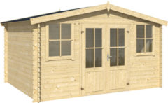 Outdoor Life Products Outdoor Life | Blokhut Dallas | Blank | 376 x 292 cm