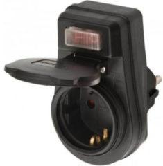 BRENNENSTUHL Steckdosenadapter EDS 10 IP44 mit Ein/Aus Schalter für den Außenbereich VPE: 10