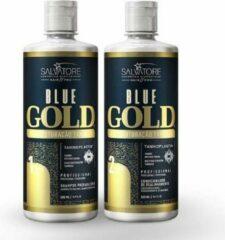 Lissage tanin SALVATORE BLUE GOLD Classic 2x1 L Lissage bresilien Sans Formol