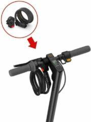 Ninebot by Segway KickScooter Password Lock kabelslot Zwart / Fietsslot Segway 120 Cm Zwart-Ninebot Elektrische step- Fietsslot Kabelslot Ciferslot 12mm x 1.2m zwart- combinatieslot step-5 cijfers