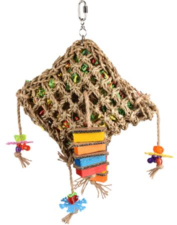 Afbeelding van Flamingo Vogelspeelgoed Net Vierkant - Vogelspeelgoed - 28x10x45 cm Multi-Color