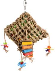 Flamingo Vogelspeelgoed Net Vierkant - Vogelspeelgoed - 28x10x45 cm Multi-Color
